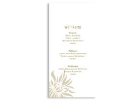 Menükarten zur Hochzeit Florenz (DIN Lang-Karte) Beige