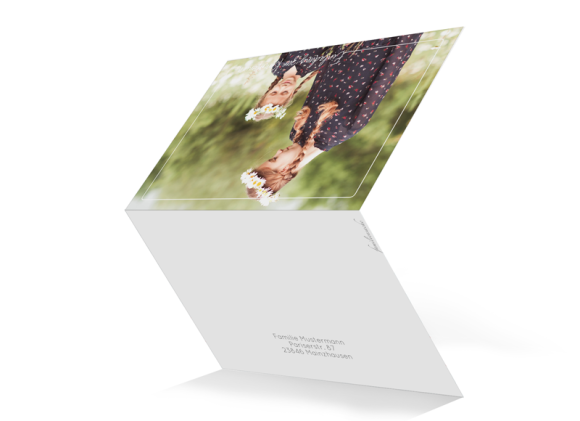 Kommunion (Kartenformat Klappkarte C6 quer), Motiv: Kraftvoll, Aussenansicht, Farbvariante: weiss