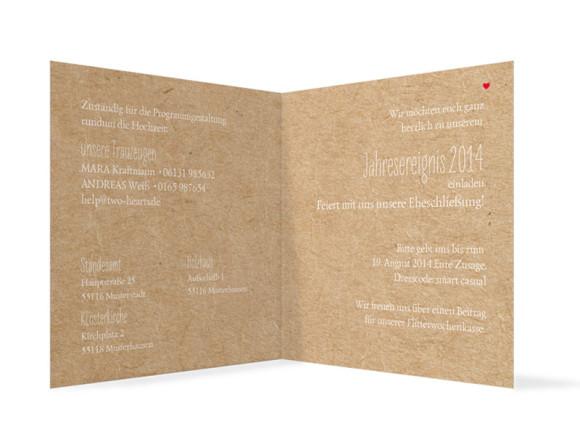 Hochzeitseinladungen Luzern, Innenansicht der Farbversion: beige