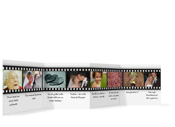 Innenansicht Foto-Leporello, Gastgeschenk, Motiv Hollywood, Farbversion: weiss