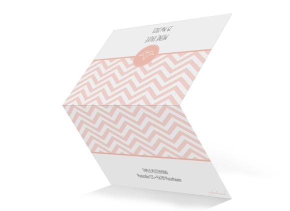 Taufdanksagung (Klappkarte C6), Motiv: Hamptons Origami, Aussenansicht, Farbvariante: apricot