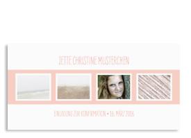 Konfirmationseinladungen Jette/Jannik FRESH Apricot
