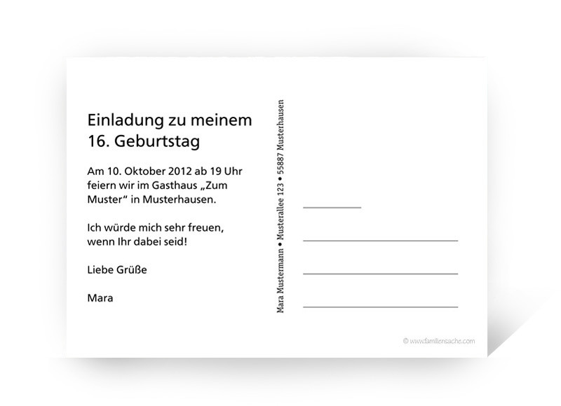 einladungskarten online gestalten: fotokarte | einladung zum, Einladungsentwurf