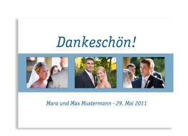 Hochzeitsdanksagung Klassik (Postkarte)