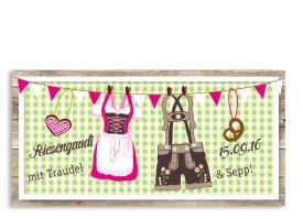 Geburtstagseinladungen München Grün/Pink