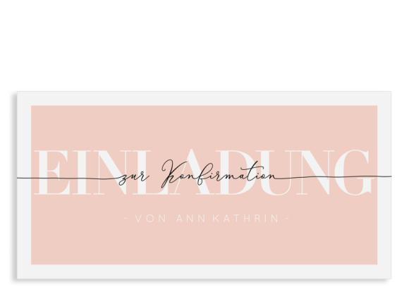 """Einladungskarte Konfirmation """"Glauben"""" (Postkarte Din Lang)"""