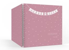 """Gästebuch zur Hochzeit """"Wimpelkette"""" (30 x 30 cm)"""