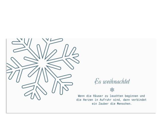 Firmenkarten zu Weihnachten Eiskristall (Postkarte)