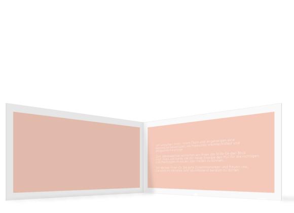 Weihnachtskarte für Unternehmen ohne Foto, Motiv: Festliche Post FWK, Innenansicht, Farbvariante: apricot