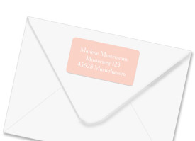 Adress-Etiketten zur Konfirmation Nizza Apricot