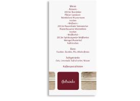 Menükarten Hochzeit Zürich (Postkarte) Bordeaux