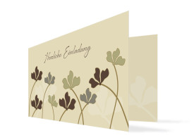 Einladungskarte Growing zum Geburtstag Beige