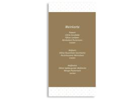 Menükarten zur Hochzeit Prag (DIN Lang-Karte) Beige