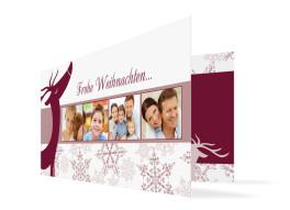Grußkarte zu Weihnachten Rössl (Klappkarte)
