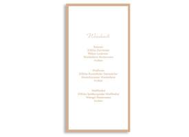 Menükarten zur Hochzeit Verona (DIN Lang-Karte) Beige