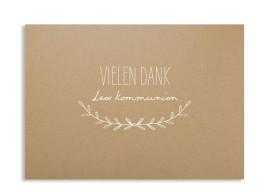 """Kommunionseinladung """"Zweig Natural"""" (Postkarte)"""