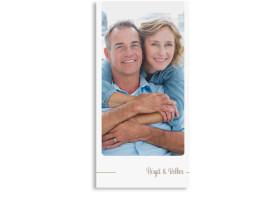 Danksagungskarten zur Silbernen Hochzeit Boston (Postkarte) Beige