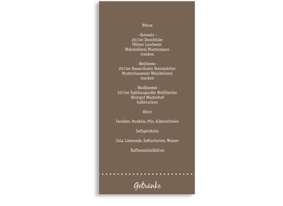 Menükarte zur Hochzeit Buenos Aires (Postkarte)