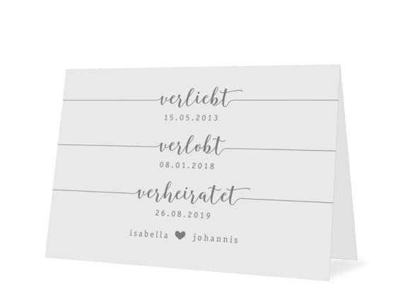 """Einladungskarte Hochzeit """"Gent Pure"""""""