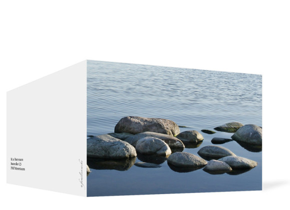 Trauerkarten Fotoerinnerung, Außenansicht der Farbversion: weiß