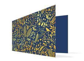 Weihnachtskarte Naturgold Royal