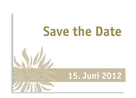 Save-The-Date-Karte Florenz zur Hochzeit (Postkarte A6) Beige