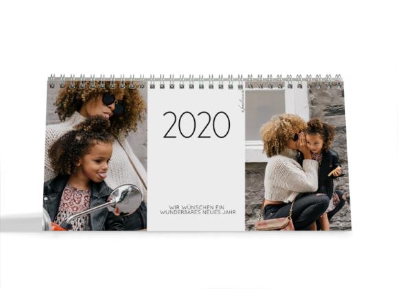 Choose your Pics Fotokalender, Motiv: Jahreszeiten, Innenansicht, Farbvariante: schwarz