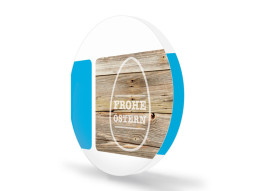 Osterkarten Woody (runde Klappkarte)