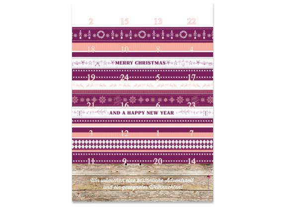 Adventskalender Weihnachtsband (DIN A4)