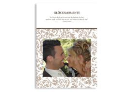 Gästebuch zur Hochzeit Rokko Weiß (Einlegeblätter DIN A4)
