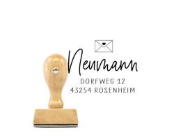 """Adress-Stempel """"Rosenheim"""" (Holzstempel)"""
