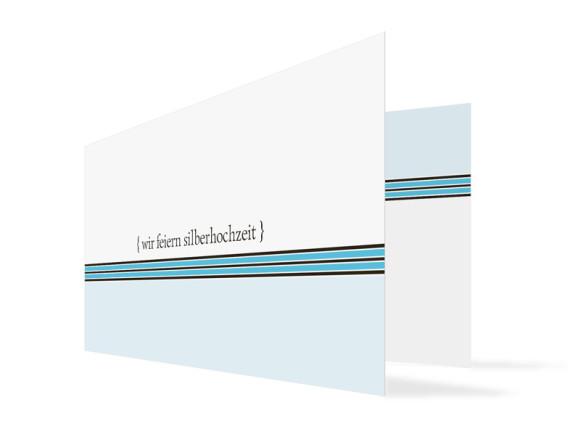 Silberhochzeitskarte Cardiff