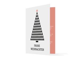 Weihnachtskarte für Firmen Origami Apricot