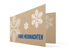 Weihnachtskarten Eissterne Blau