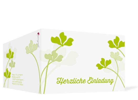 Geburtstagskarten Growing Fresh, Außenansicht der Farbversion: grün