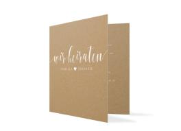 """Einladungskarten zur Hochzeit """"Malaga"""""""