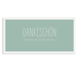 """Danksagung zur Kommunion """"Licht"""" (Postkarte) gruen"""