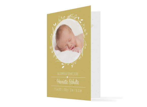 """Geburtskarte """"Henriette/Henry"""""""