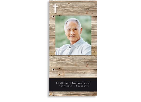 Trauerkarte Holz (Postkarte DL)