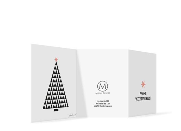 Weihnachtskarte für die Firma Origami