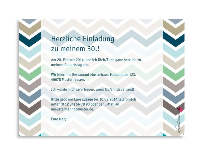einladung 30 geburtstag text – kathyprice, Einladungsentwurf