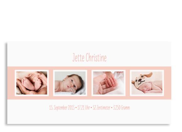 Karte zur Geburt Jette/Jannik FRESH