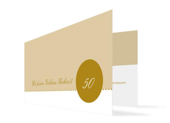 Goldhochzeit Einladung Buenos Aires (Klappkarte)
