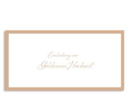 Einladung zur Goldhochzeit Verona (Postkarte) Beige