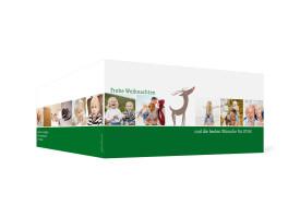 Weihnachtskarte Jahresrückblick (Klappkarte DL) Dunkelgrün