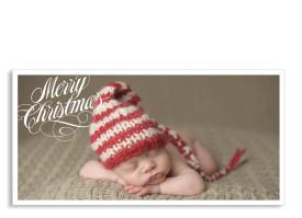 Weihnachtspostkarte Classic Weiss
