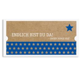Karten zur Geburt Viola/Veit (Postkarte) Blau