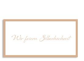 Einladung Silberhochzeit Verona Beige