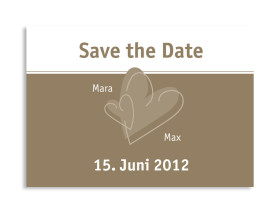 Save-The-Date-Karte London zur Hochzeit (Postkarte A6) Beige