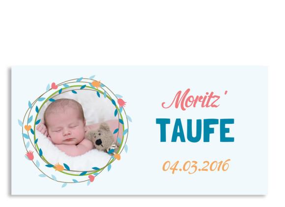 Taufkarten Mina/Moritz (Postkarte)